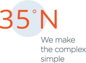 35 North, Logo, We Make the Complex Simple